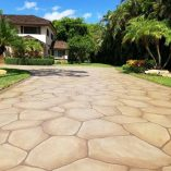 flagstone driveway stamped concrete